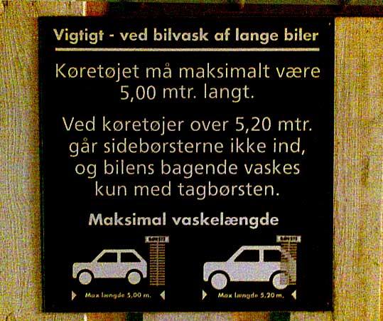 Bilen må maksimalt være 5 meter lang. Eller 5.2 meter. Og hvis den er over 5.2 meter, så...