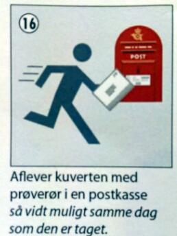 Og man skal åbenbart LØBE over til postkassen, at dømme efter fartstriberne.